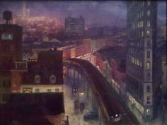 The City from Greenwich Village (1922) by John Sloan. Oil on canvas.