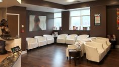 Baltimore Center for Facial Plastic Surgery, Medical Office Waiting Area with contemporary design Spa Interior, Office Interior Design, Office Interiors, Medical Office Interior, Medical Office Design, Law Office Decor, Office Lobby, Waiting Room Design, Waiting Area