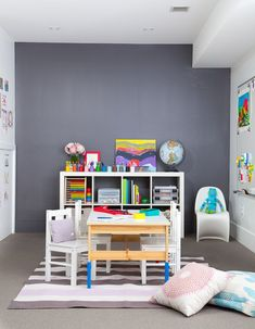 Designer Katherine Yaphe Oliver Yaphe Kids Playroom Couch Built In