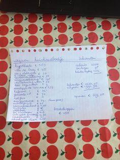 Creatief met een klein budget: Mijn kasboek! Of gezinsbegroting.