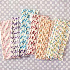 Polka Dot Paper Straws {cute}