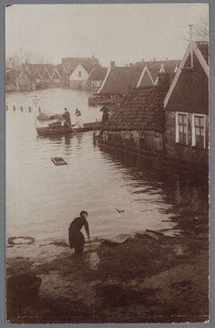 Watersnood 1916. fotograaf: Schotsman, K. (Edam) Volendam