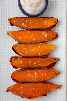 Sweet Potato Skin Dippers from Weelicious