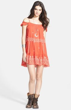 Free People Embroidered Cotton Slip Dress available at #Nordstrom