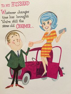 A personal favorite from my Etsy shop https://www.etsy.com/listing/478181837/vintage-birthday-card-1960s-fashion-blue