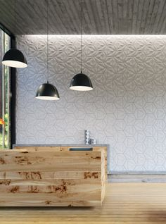 Fiber #cement 3D #wall #tile for interior/exterior CONCURRENT CONSTELLATIONS by KAZA Concrete @kazaconcrete