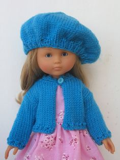 Corolle Les Cheries Doll Cardigan and Beret Hat
