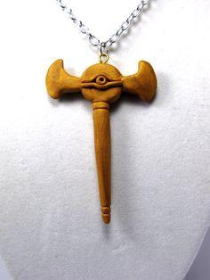 Millennium Rod Yugioh Polymer Necklace by SammyCraft on Etsy, $13.00