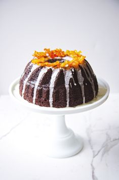 Chocolate and Candied Kumquat Cake   La Pêche Fraîche More