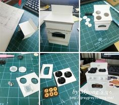 오븐 가스렌지 [Myong`s miniature 묭스 미니어쳐] : 네이버 블로그