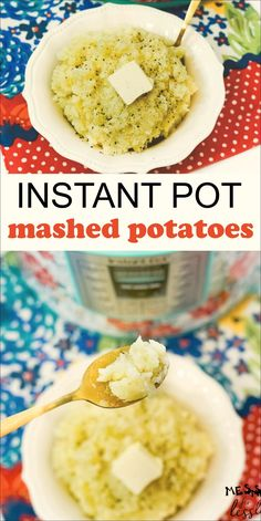 This recipe for Instant Pot Mashed Potatoes will make the creamiest, fluffiest mashed potatoes you've ever tried in just 15 minutes. #instantpotmashedpotatoes #pressurecookermashedpotatoes
