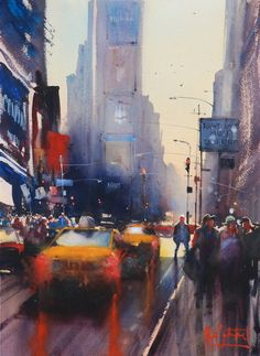 Watercolors - Watercolors from Alvaro Castagnet's Gallery / Time Square