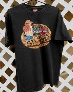 Men's Harley Davidson Black Sturgis 2006 T Shirt Size L Short Sleeves #HarleyDavidson #GraphicTee