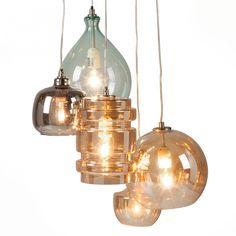 Hanglamp Brooklyn II - metaal/glas - 5-lichtbronnen