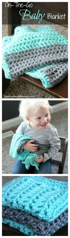 Click here for a free pattern for my On-The-Go Crochet Baby Blanket.  It is easy to make and just the right size to take everywhere. This simple pattern is perfect for beginners!