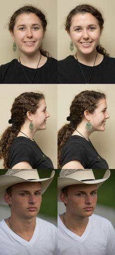 Подвиньте подбородок (или уши) вперед