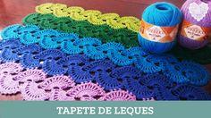 Criações em Crochê: Tapete de Leques   Luciana Ponzo