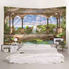 OFF] 2019 Printing Window Sill Seascape Tapestry In Multicolor A