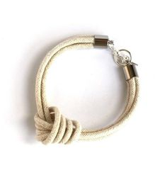 I Love Knots - Natural Rope Knot Bracelet with Silver
