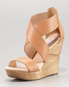 Diane von Furstenberg - Opal Crisscross Wedge Sandal, Natural