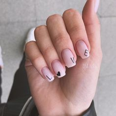 Trending Summer Nail Designs For Short Nails - Nails - Nageldesign Acrylic Nails Natural, Summer Acrylic Nails, Cute Acrylic Nails, Acrylic Nail Designs, Natural Nails, Summer Nails, Cute Nails, Gel Manicure Designs, Nails Design