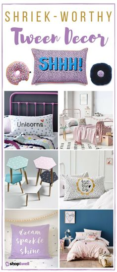 Those picky tweens? Yeah, we rounded up 26 tween girl approved bedroom and decor must-haves you can both agree on. Shop the collection now!
