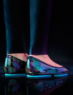 Dazzling Arabian Night Tieks are fully customizable, and no two pairs are exactly alike. Expertly handcrafted in Italy, this iridescent leather is a work of art! | Tieks Ballet Flats