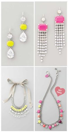Juicy Couture neon jewelry