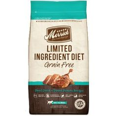 Merrick Limited Ingredient Diet Grain Free Real Duck and Sweet Potato Recipe Dry Dog Food 22lb ** Details can be found by clicking on the image. (This is an affiliate link and I receive a commission for the sales)