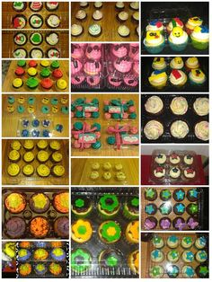 """Another happy customer... Annette Ramirez-Serano, calls our cupcake containers her """"Strollers"""".  We are proud to say our containers keep her cupcakes aka babies safe and sound during delivery. Take a look at her creative cupcakes...   Thank you for being a loyal customer!!!  You can get these contanier's at http://plasticcontainercity.com/Cupcake-Containers-Muffins.htm"""