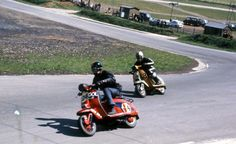 scooter racing during the late 60′s & 70′s /  Lambretta SX and GP