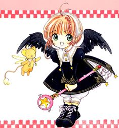 Kero-chan and Sakura from CCS Manga Anime, All Anime, Cardcaptor Sakura, Studio Ghibli, Dreamworks, Pixar, Sakura Card Captors, Chibi, Clear Card