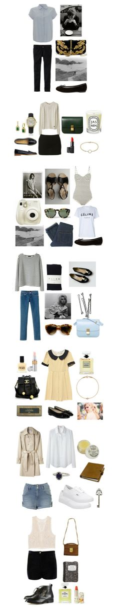 Take a trip to London with a week's worth of great outfits, from cute flats and the perfect trench to pretty clutches and awesome striped sweaters. All from Polyvore member GirlInLondon, created on Polyvore