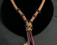 Popular items for seed bead lariats on Etsy