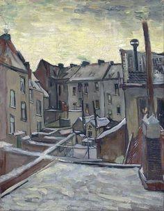 Vincent van Gogh, Antwerp in the Snow, December 1885