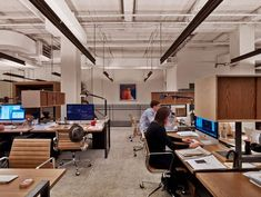 Modern office design, Neuehouse, New York by David Rockwell/ our new office space! Corporate Office Design, Modern Office Design, Office Interior Design, Office Interiors, Contemporary Office, Interior Design Magazine, New York Office, Home Office, Office Spaces