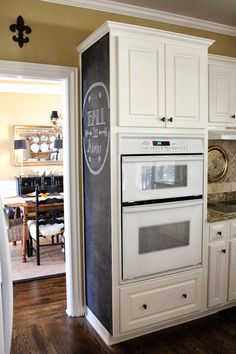 TiffanyD: Kitchen Chalkboard Wall I Want To Do This In My Kitchen