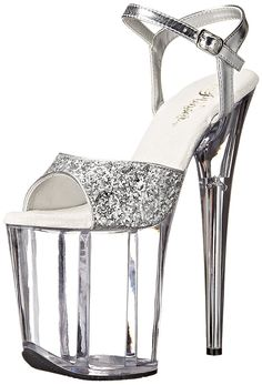 Pleaser Women's FLAM810/SG/C Platform dress Sandal *** Check this awesome product by going to the link at the image.