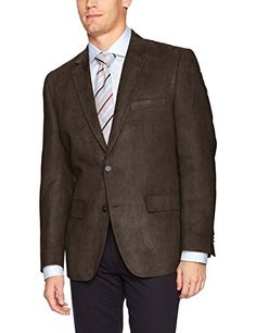 c133a247f6a64 GH Bass Co Mens Classic Fit Poly Suede Blazer Sportcoat Brown 48R    Learn  more by visiting the image link.-It is an affiliate link to Amazon.