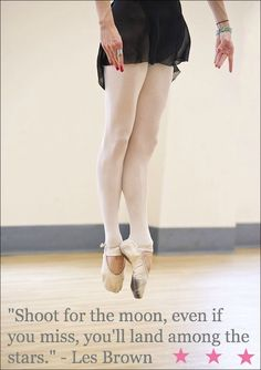 All I can think of when I see a ballet dancer is the ridiculous amount of hard work and determination they put onto their art. Respect.