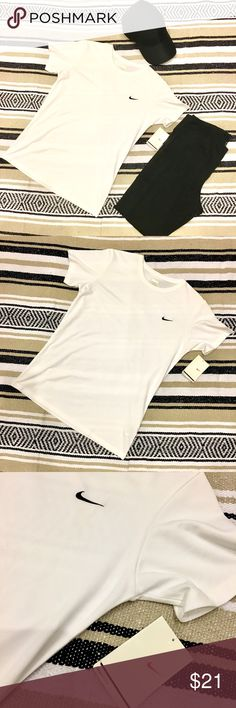 ***PRICE DROP*** Nike Dri Fit white Tee. ***PRICE DROP*** BUNDLE 2 or more items from My Closet for discount Nike Dri Fit white Tee.  Classic Tee.  Just do it! Simply white. Nike Tops Tees - Long Sleeve