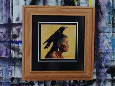Native American Art Print Custom Handmade Wood by KirbySattlerArt