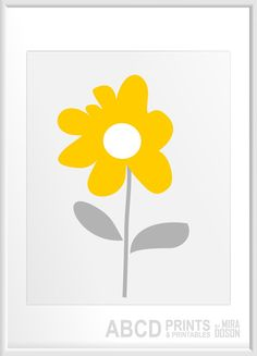 Nursery art -DIY flower prints?