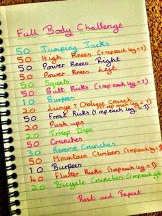 My full body workout. I do this twice through.