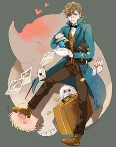 Aw Newt is so cute :) He's gotta be one of my favorite HP characters now...