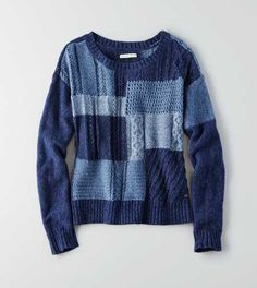 AEO Patchwork Pullover Sweater