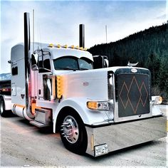 Millions of Semi Trucks Custom Peterbilt, Peterbilt 389, Peterbilt Trucks, Chevy Trucks, Show Trucks, Big Rig Trucks, Custom Big Rigs, Custom Trucks, Truck Roof Rack