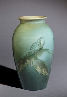 VaseDecorated by Albert Robert Valentien, American, 1862 - 1925, active at Rookwood Pottery 1881 - 1905. Made by Rookwood Pottery, Cincinnat...