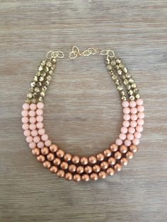 The Naked Necklace Rich Metallic Bronze Bright by icravejewels, $68.00
