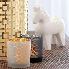 Jonathan Adler by PartyLite! Teelichthalter Zebra - der neue Trend. Daheim auf Safari gehen...